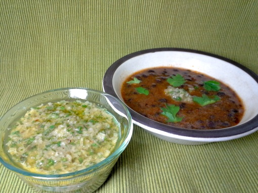 Chimichurri and Black Bean Soup