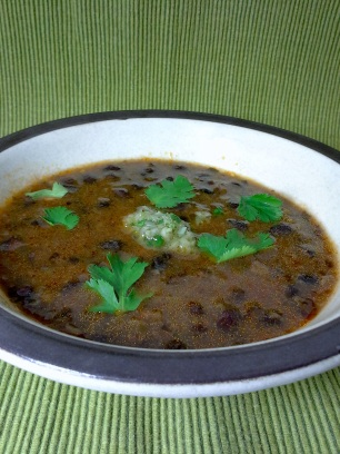 Chimichurri Black Bean Soup